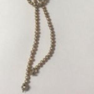 Gold Tone Freshwater Lariat Necklace